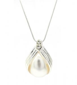 Bridal Simple Contemporary Pearl Pendant /  Necklace - Great Gift Idea